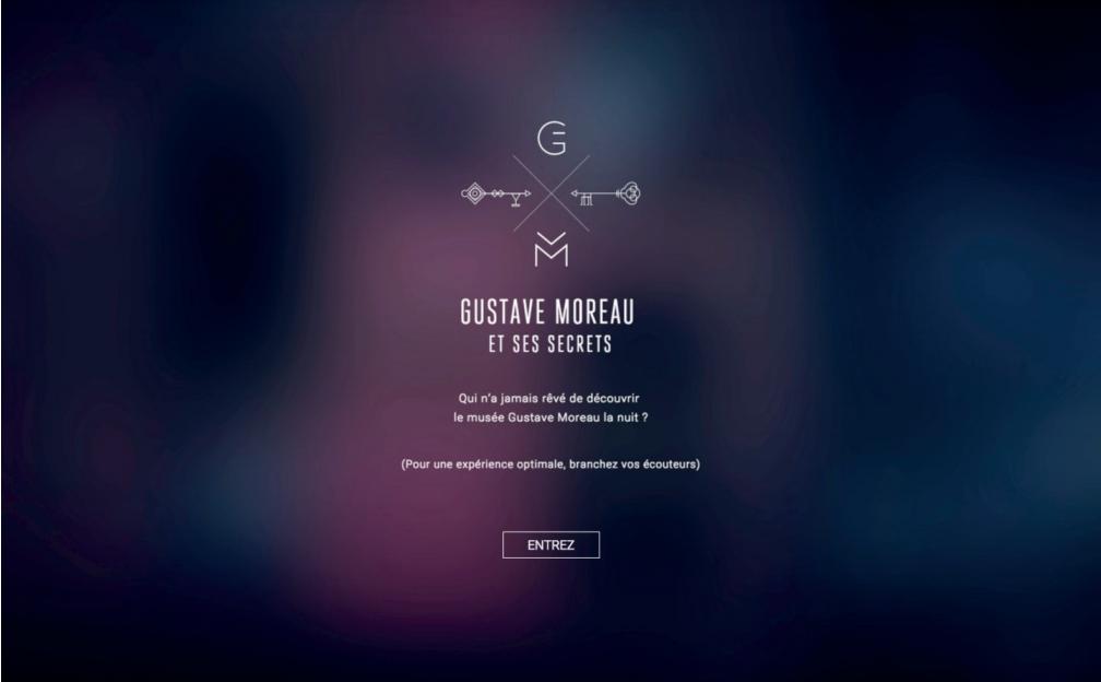 Page d'accueil du site secrets-musee-moreau.fr