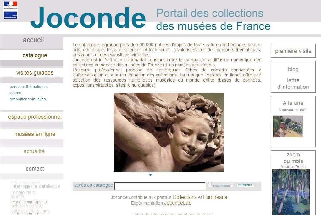 Joconde. Portail des collections des musées de France