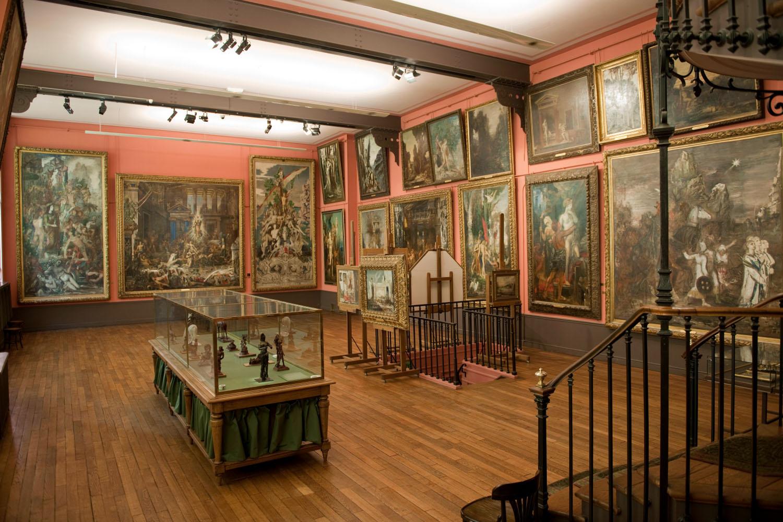 Vue de l'atelier de Gustave Moreau au 2e étage du Musée Gustave Moreau