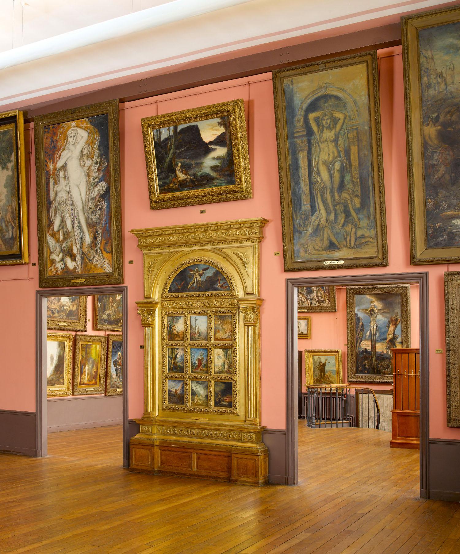 Vue de l'atelier de Gustave Moreau au 3e étage du Musée Gustave Moreau