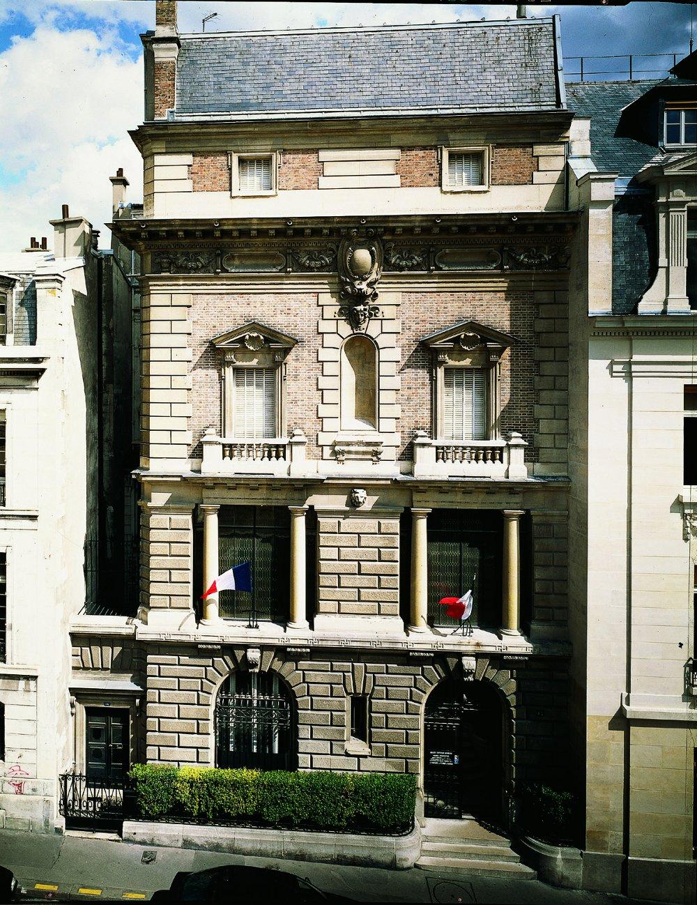 Façade du musée Gustave Moreau situé au 14 rue de La Rochefoucauld à Paris