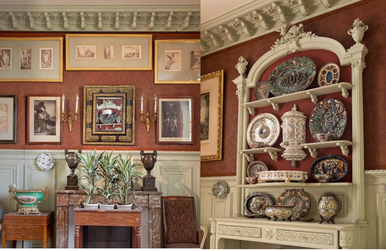 Vues de la salle à manger de Gustave Moreau